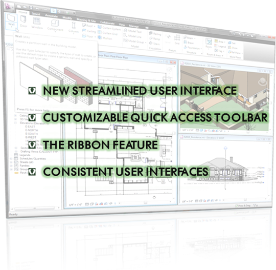 Autodesk Revit Arch 2010 User Interface Full
